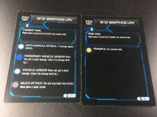 2007 HeroClix ActionClix Halo Stat Card Lot (M12 Warthog - Combat & Risk Dial)