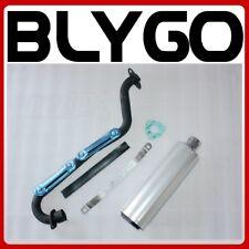 Exhaust Pipe + SILVER Alloy Muffler 150cc 200cc 250cc Quad Dirt Bike ATV Buggy