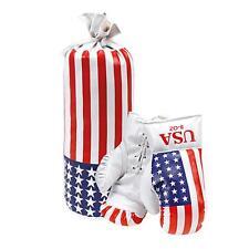 Kinder Boxsack inkl. 2 Box Handschuhe universal Motiv AMERIKA Box Set Neu OVP