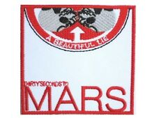 "30 Seconds To Mars Thirty Embroidered Iron On Shirt Bag Badge Patch 2.9""x2.9"""