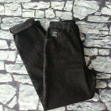 Vintage Wrangler for women high waist black washed mom jeans W28