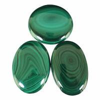 360 Cts/3 Pcs Natural Malachite AAA Finest Green Cabochon Gemstones 39mm-45mm