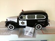 Nib Franklin Mint Police/1946 Chevy Suburban Sheriff's Police Wagon Car.