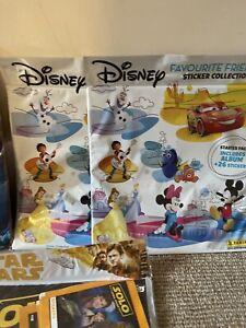 X2 Disney Kids Sticker Book Albums Started Packs. Rare