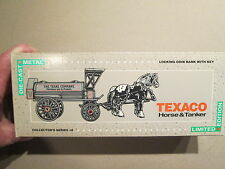 Texaco #8 '91 Ertl Horse and Tanker Truck Bank - New - Never displayed
