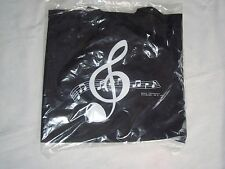 "MUSIC Tote Bag Nylon BLACK 14"" X 13"" Great MUSIC Gift Students Brand  NEW"