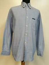 MENS VNTAGE VALENTINO OXFORD BLUE BUTTON COLLAR 80s SHIRT MEDIUM M EU 48