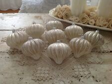 Collection of 9 Shabby Chic Christmas Ornaments