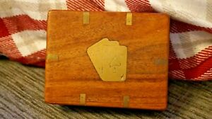 Antique Brass Bound Card Case