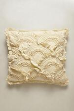 NEW ANTHROPOLOGIE $136 Rivulets Euro Shams Pillow Neutral Set of 2 Bedding NWT