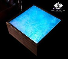 Rare Selenite Slab Lamp Altar Light Multicolor LED Wish Box 44-Key IR Remote