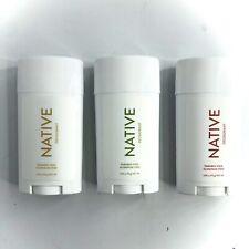 (Combo Set of 3) Native Deodorant - Lemon And Fir, Lemon Zest Pomegranate..