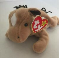 Ty Beanie Baby Derby the Star/Coarse Yarn Mane Horse 1995  **Rare**Retired**