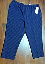Bend Over  Elastic Waist Polyester Pants Purple Striped Women's Size 26W  NWT