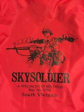 SBB Rare King Louie VIETNAM WAR Sky soldier TOUR OF DUTY SOUVENIR JACKET Xs Mint