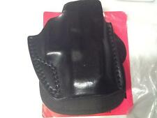 Cobra Gunskin Paddle Holster open top Glock 26/27 Black Leather