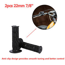 "7/8"" 22mm Black Rubber Gel Handle Bar Hand Grips Cover Motorcycle ATV Bike Pit"
