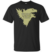 Nuclear Winter Is Coming Global Warming Game Of Thrones Black T-Shirt S-6XL