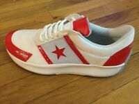 Converse Run Star Y2K Ox Low Top Vintage White/Red Men's Sz 9 - 9.5 163050C