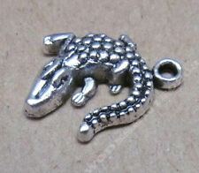 20pc Tibet Silver Charm crocodile animal beads accessories