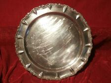 ANTIKE Silberteller Silberplatte PUNZIERT England SHEFFIELD ? 421 GRAMM