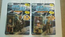 Lot Of 2 Playmates Star Trek Next Generation Action Figures Worf Picard