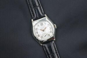 1929 Elgin Senior Series Model 436 Cushion Case Men's Art Deco Vintage Watch