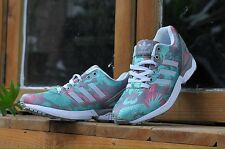 ADIDAS ZX FLUX WOMENS RUNNING SHOES CLEAR ONIX WHITE VISTA PINK M19456 SIZE 10