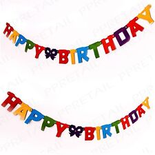 2 x MULTICOLOURED HAPPY BIRTHDAY LETTER BANNER 1.5m Party Bunting Decoration
