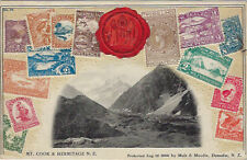 STAMP  CARD-: NEW ZEALAND-Mt Cook -Embossed - MUIR & MUDIE