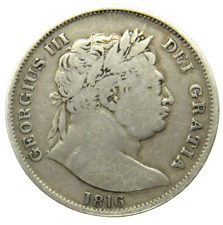 More details for 1816 king george iii silver halfcrown coin - great britain
