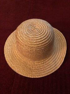 Antique Vintage Straw Hat 16cm diameter . 29cm total