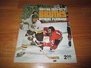 1975-76 Boston Bruins Yearbook BOBBY ORR Phil Esposito JOHN BUCYK Jean Ratelle
