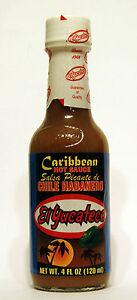 El Yucateco Caribbean Hot Sauce, Chile Habanero, Salsa Picante de 120ml