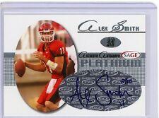 Alex Smith 05 Sage PLATINUM AUTO ROOKIE Card SP /10 SUPER RARE 49ers HOT