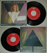 LP 45 7'' SANDY MARTON Merry christmas happy new year White storm 1986 cd*mc dvd