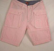 POV Mens Alan Pink White Pinstriped Cotton Short Size 32 NWT #208F  L968