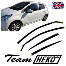 DPE26147 PEUGEOT 208 5DOOR 2012-up WIND DEFLECTORS 4pc HEKO TINTED