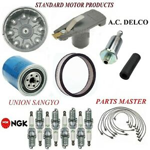 Tune Up Kit Filters Cap Spark Plugs Wire For FORD F-250 V8; 7.5L;4 bbl. 1976