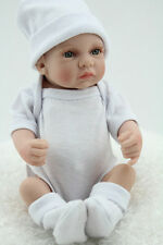 "10"" Mini Reborn Baby Boy Doll Silicone Full Vinyl Realistic Newborn Bebe Preemie"