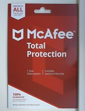 McAfee Total Protection 2020 - Anti Virus- 10 Devices - 1 Year ~ MAC/Mobile/PC