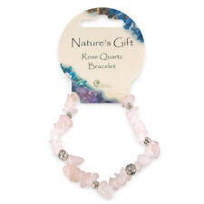PINK ROSE QUARTZ gemma cristallo Chip & Charm British fossili Natures Bracciale Regalo