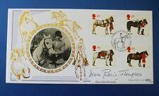 Benham 1998 todas las Reinas Caballos Fdc Firmado Por Diana pullein Thompson