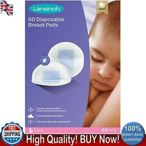 NEW Lansinoh Disposable Nursing Breast Pads Individually Wrapped Pack of 60 Thin