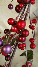 4' Red and Purple Berry Garland and Pick Made a Wreath Use around candle