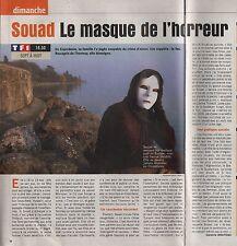 Coupure de presse Clipping 2003 Souad le masque de l'horreur  (1 page1/3)