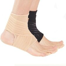 Ankle Support Strap for Weak Ankles - Sports Injury Pain Sprains - Beige Black