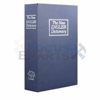 Large Dictionary Book Safe Diversion Secret Stash Booksafe Lock Key Blue