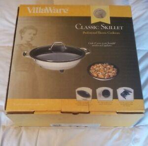 VILLAWARE ELECTRIC SKILLET 6300-12  STAINLESS STEEL NEW IN BOX