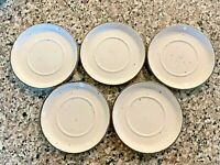 "5-Midwinter Stonehenge Wild Oats speckled 6 1/4"" Saucers 